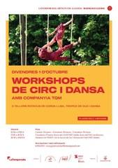 Workshops de circ i dansa amb la companyia TQM