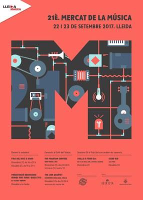 XXI edició del Mercat de la Música, Lleida 22 i 23 de Setembre del 2017