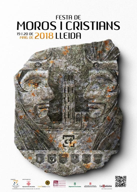 cartell de festa de moros i cristians de Lleida 2018