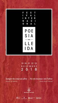 cartell festival internacional de poesia de Lleida