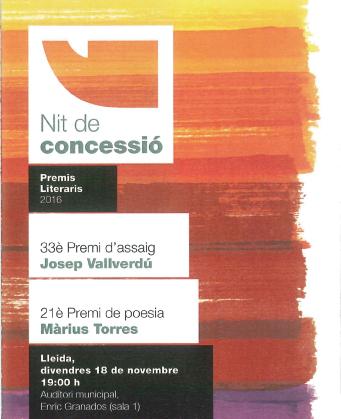 NIT CONCESSIO PREMIS LITERARIS 2016