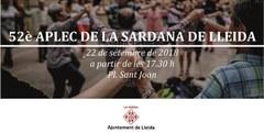 El 52è Aplec de la sardana de Lleida, un dels actes previs a les Festes de la Tardor