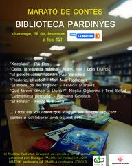 Marató de conta contes a la Biblioteca municipal de Pardinyes col·laborant amb la Marató de TV3