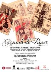"""Visiteu l'exposició itinerant """"Gegants de Paper"""" a la Casa dels Gegants"""